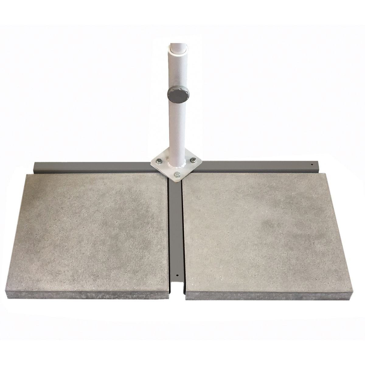 Max Green 30kg Flex Roof Cross Base with Support Tube & 2 Slabs