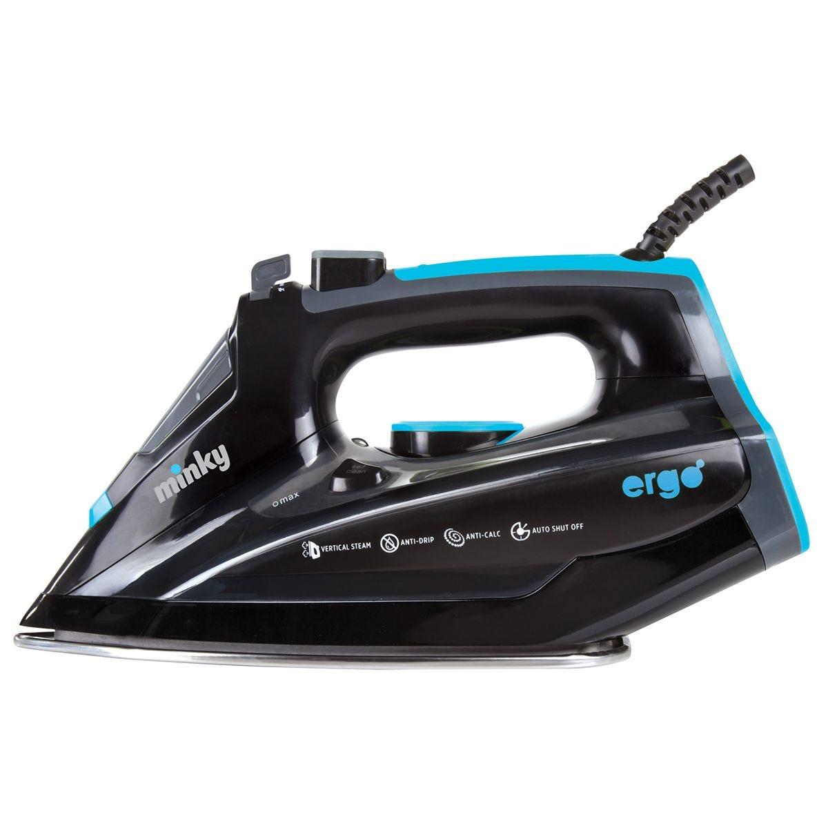Minky VI10090101 Ergo Iron 2700W with Mirror Glide Soleplate – Black/Blue