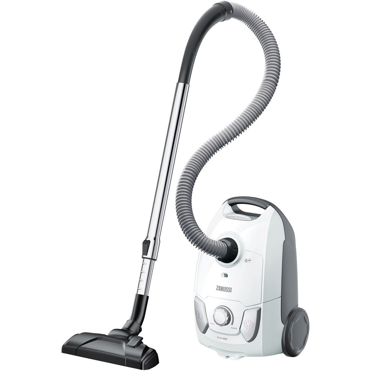 Zanussi 750W Easy Go Vacuum Cleaner - White/Silver