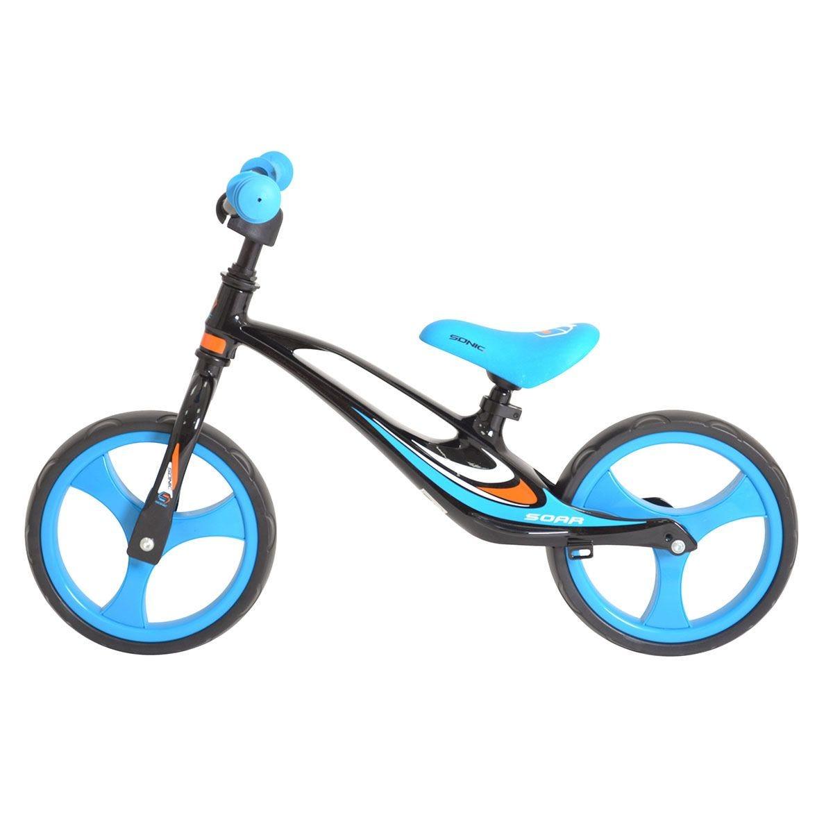 Sonic Soar Child Lightweight  Balance Bike with EVA Tyres - Black & Blue