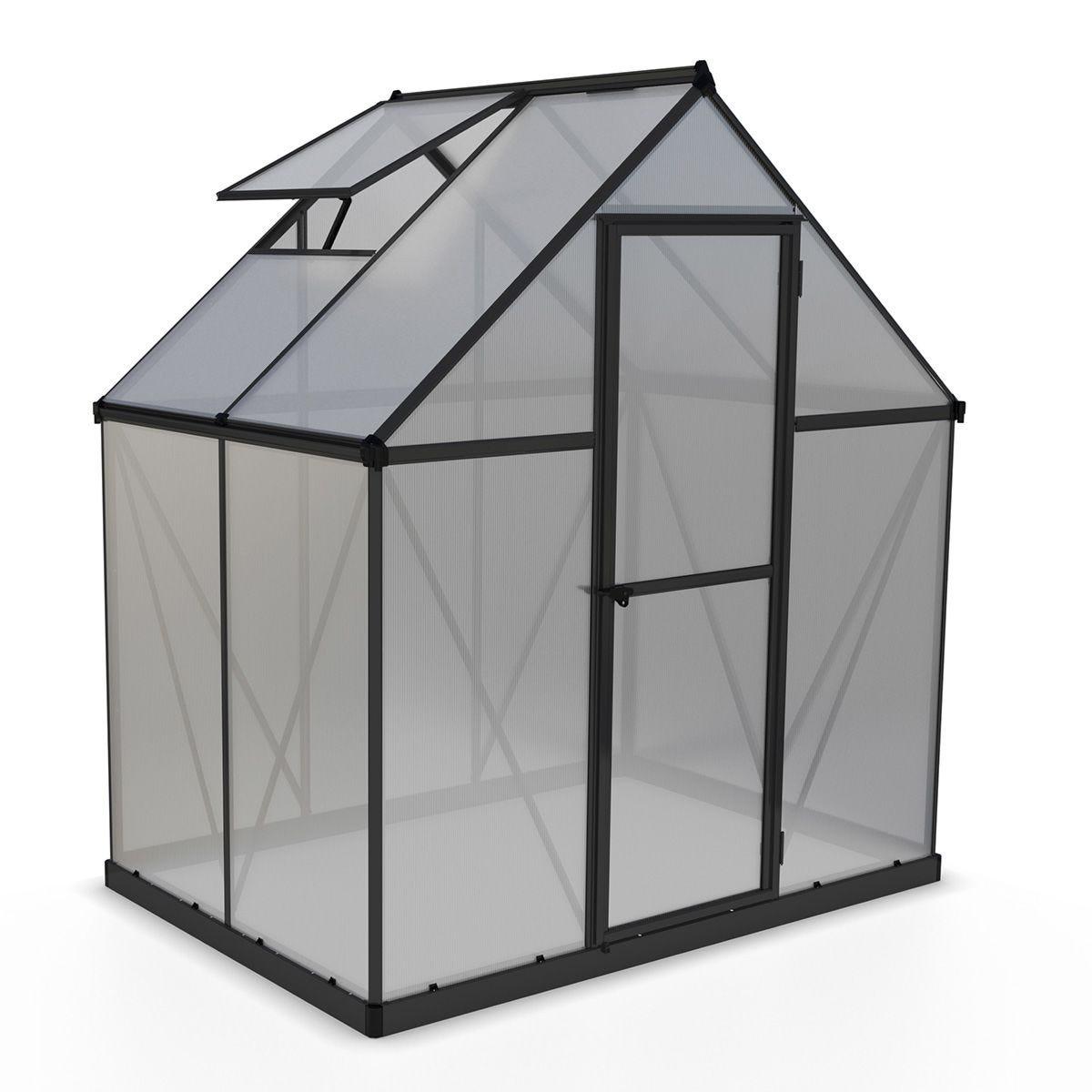Palram Mythos Greenhouse Grey - 6 x 4