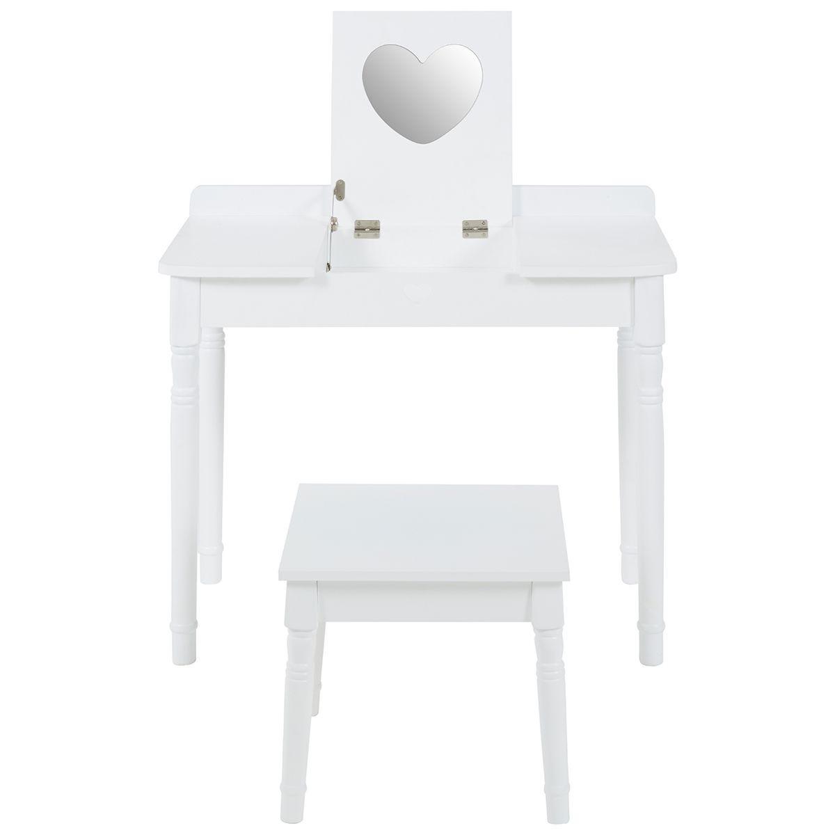 Children's Dressing Table & Chair - White