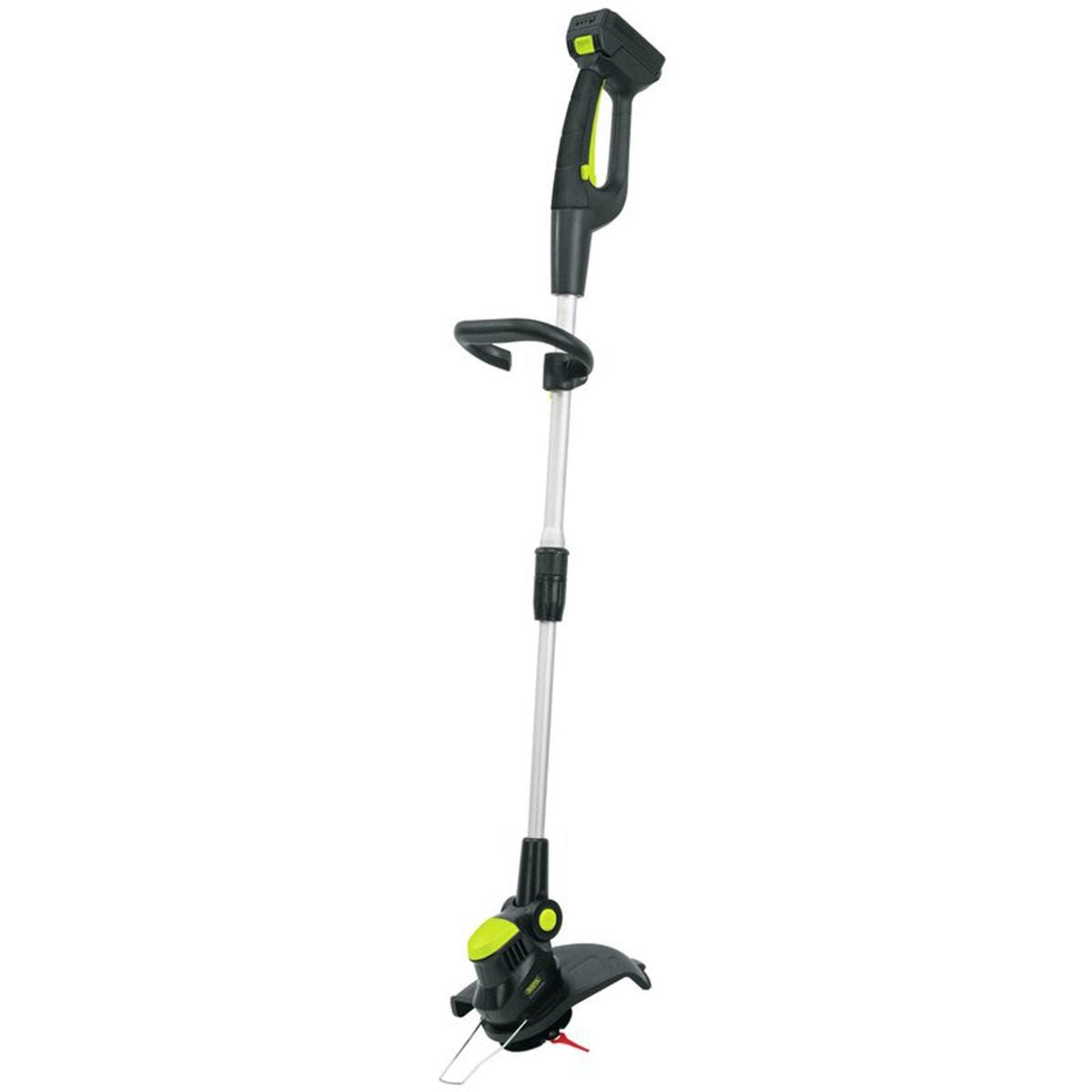 Draper 18V Cordless Li-ion Grass Trimmer with 2.0Ah Lithium Battery and Charger