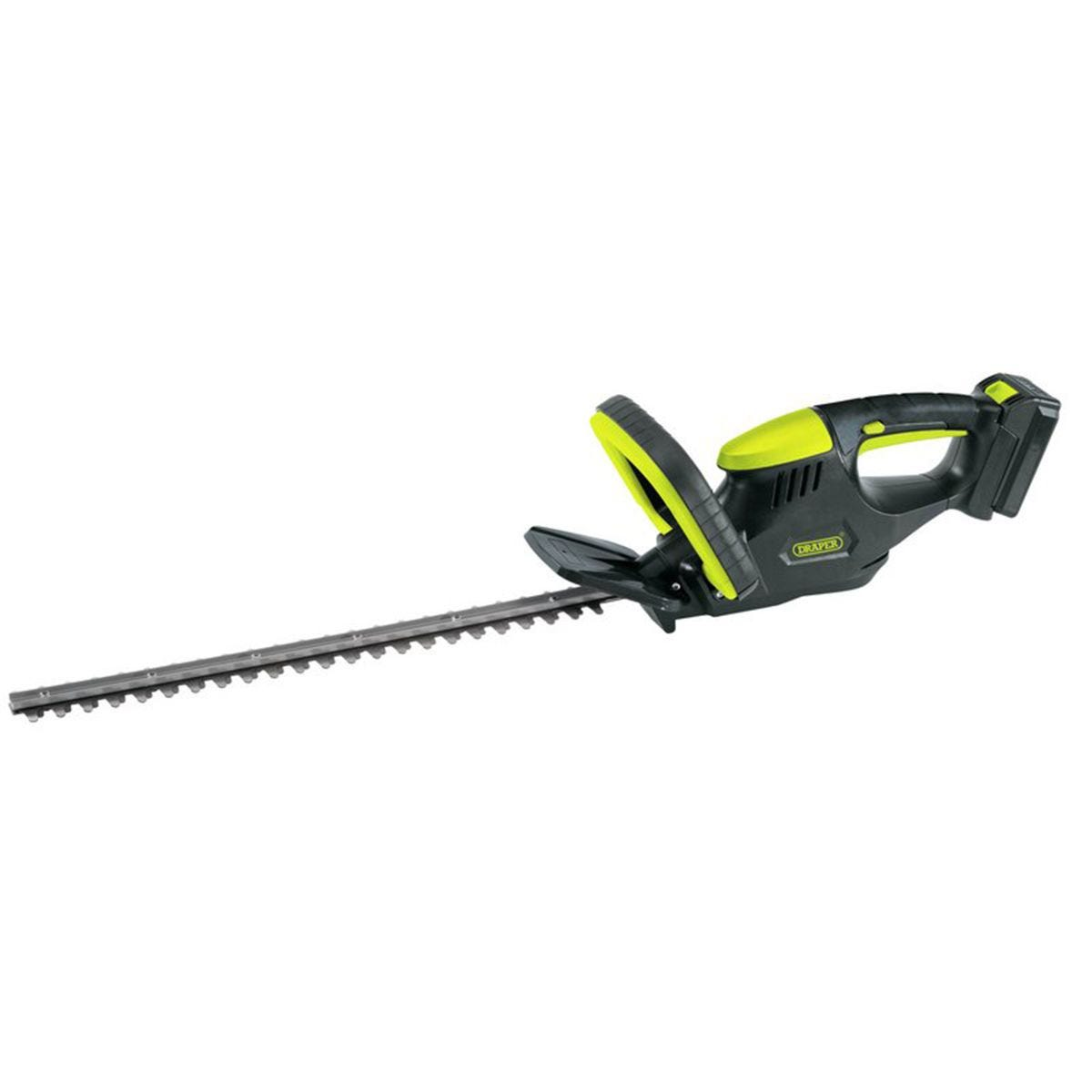 Draper 18V Cordless Li-ion Hedge Trimmer with 2.0Ah Lithium Battery and Charger