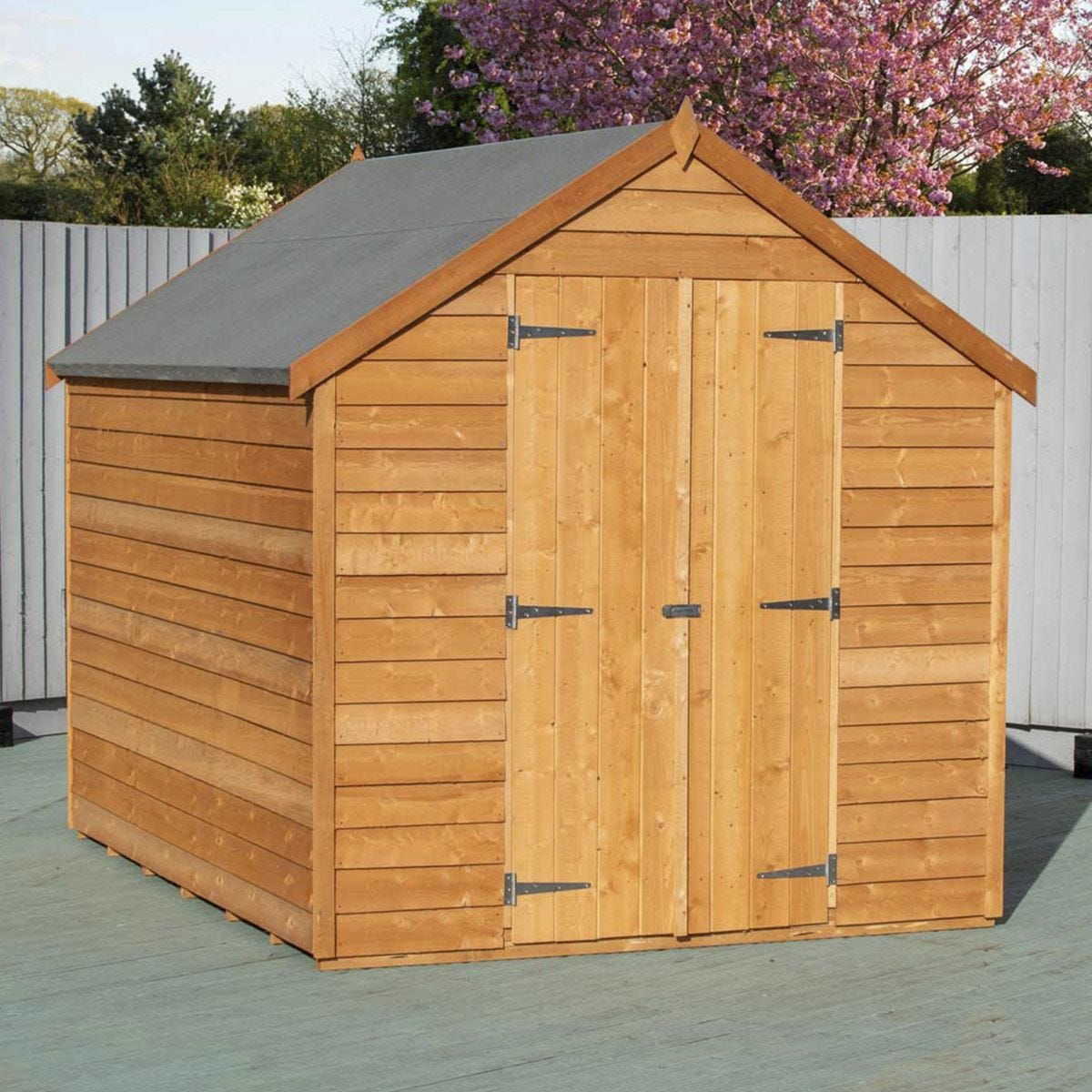 Shire Overlap 8' x 6' Value Shed with double doors