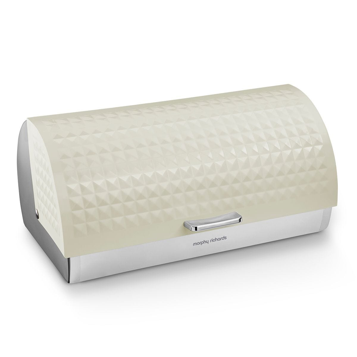 Morphy Richards Dimensions Roll Top Bread Bin - Ivory Cream