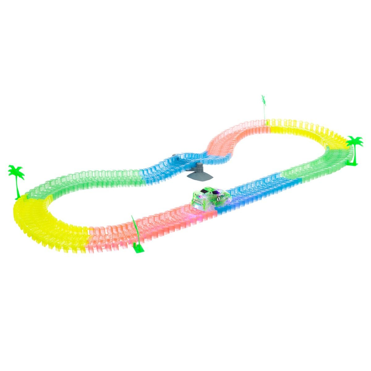 Glow Track Racers - 220 Pieces/ 11 ft Track