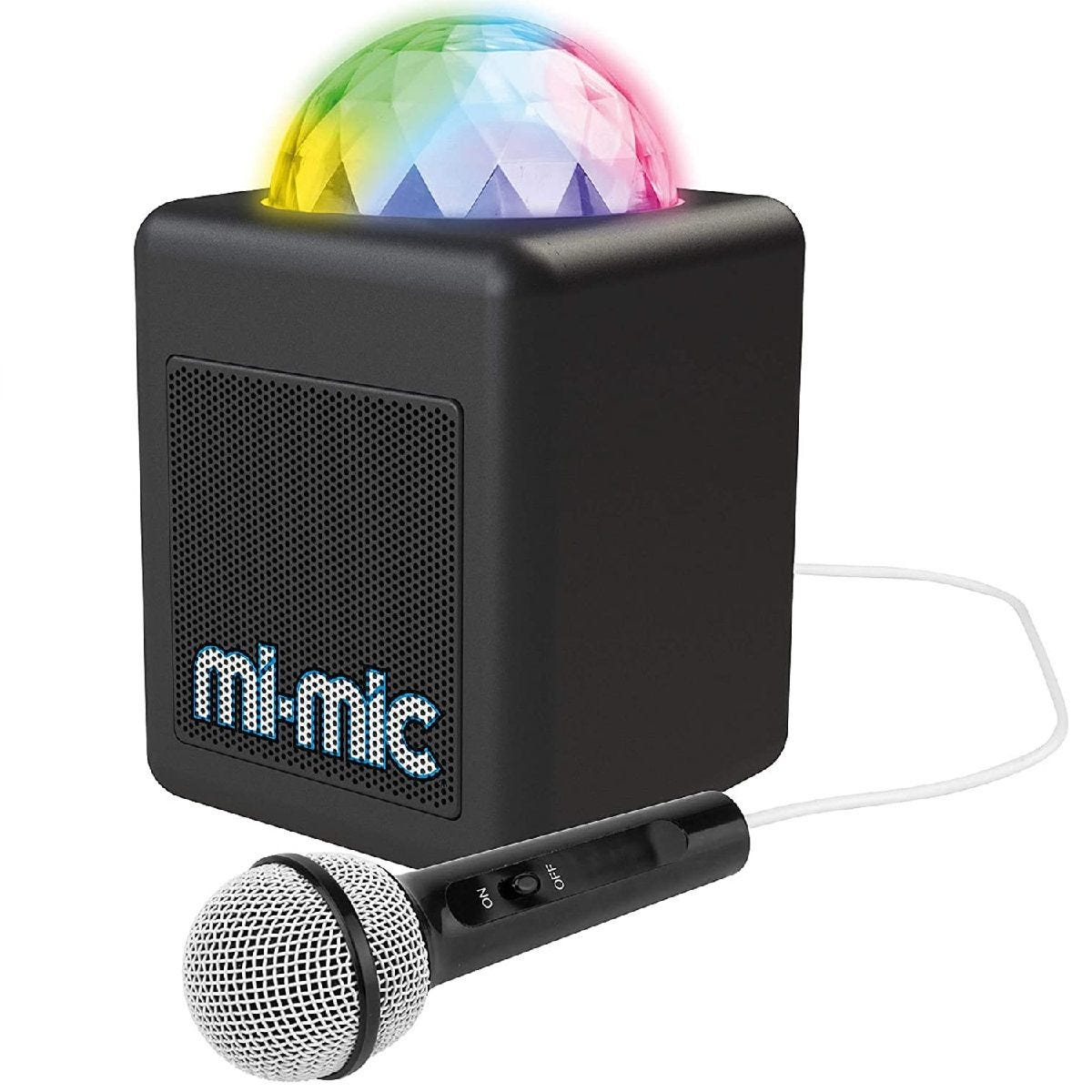 Mi-Mic TY6149 Mini Kids Karaoke Machine and Disco Cube Bluetooth Speaker with Mic & LED Lights - Black