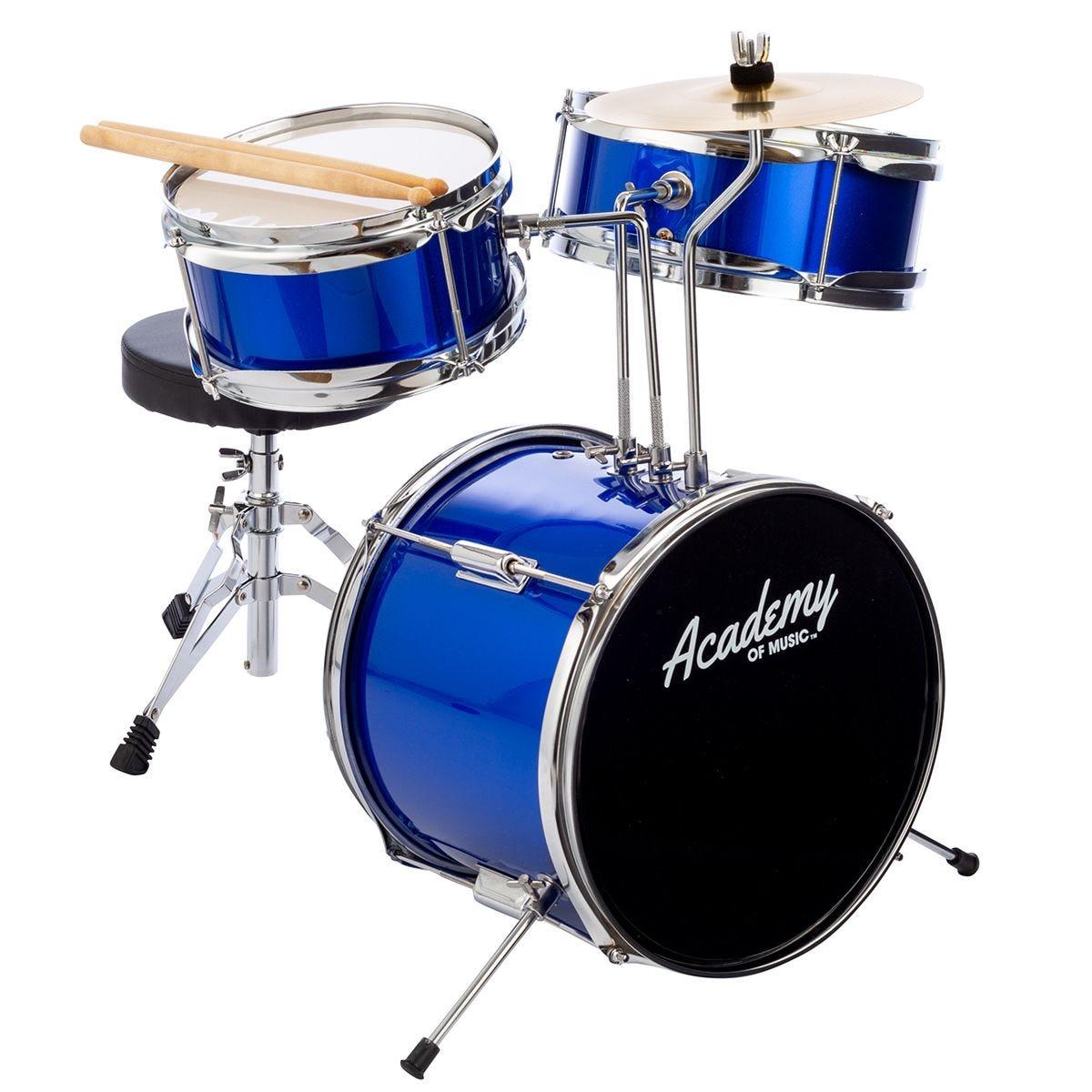 Academy Of Music Kids 3 Piece Drum Kit - Blue
