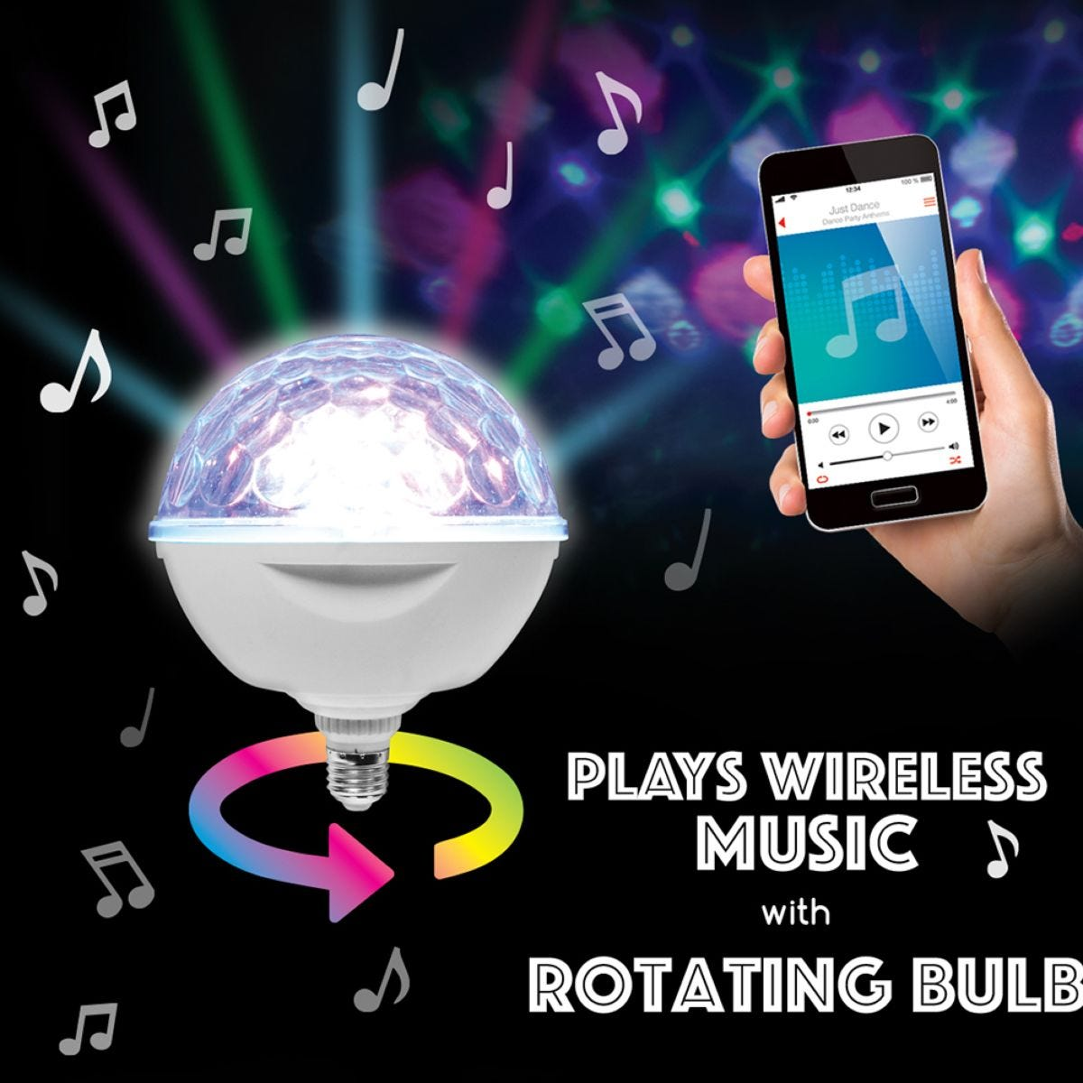 Oversized LED Party Bulb with Built in Speaker