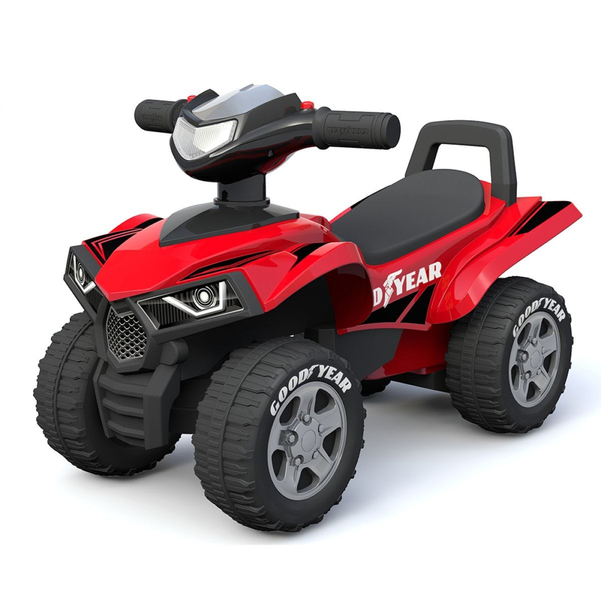 Goodyear Foot to Floor Quad Bike - Red