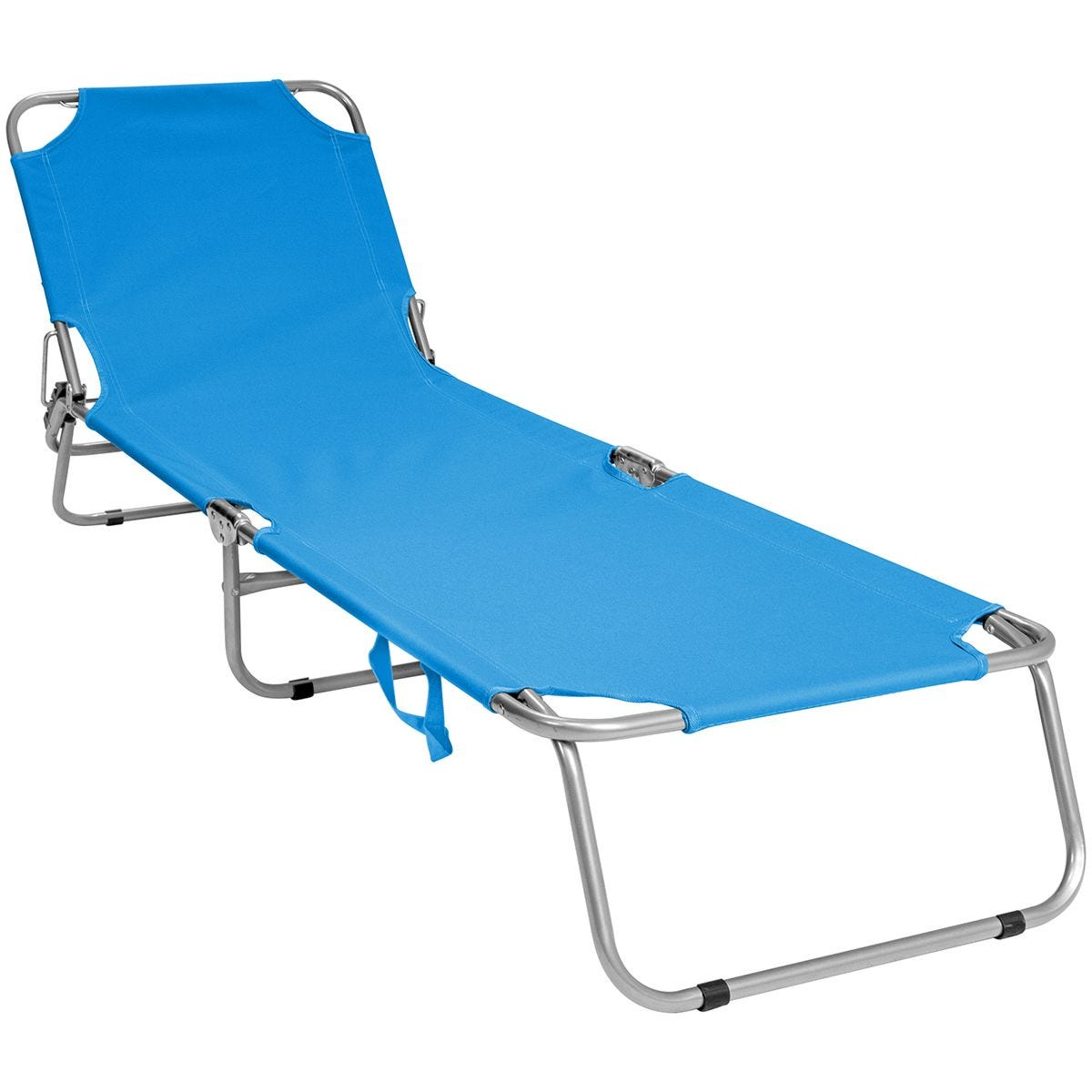 Charles Bentley Foldable Reclining Sunlounger  - Teal
