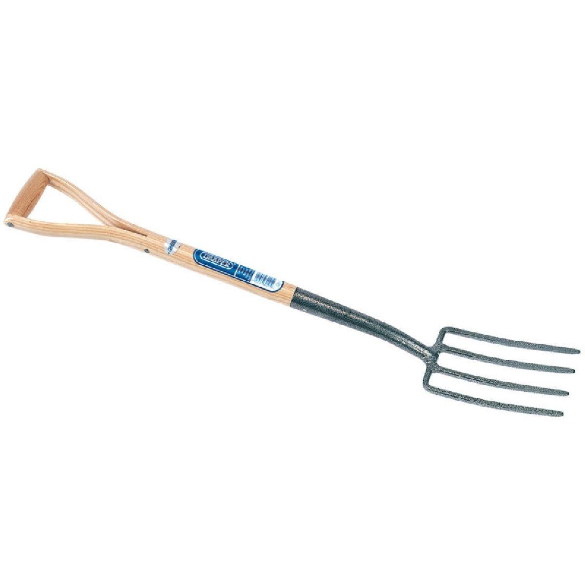 Draper Carbon Steel Border Fork with Ash Handle