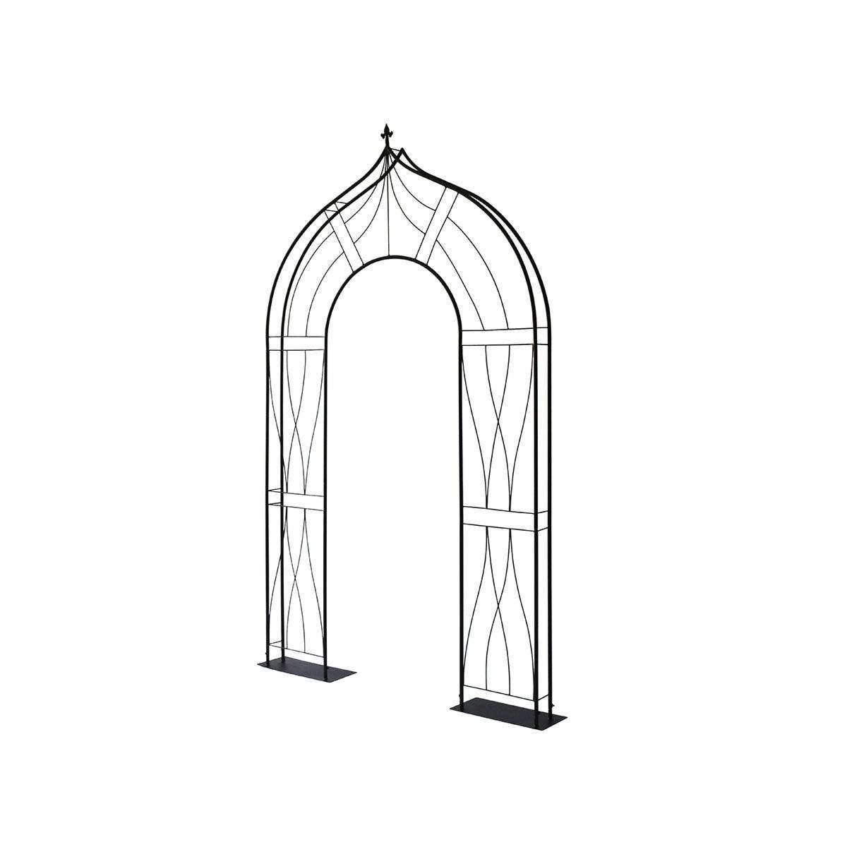 VegTrug Slimline Flat Arch - Black
