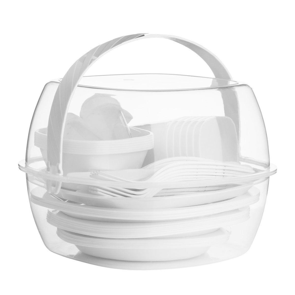 Essentials By Premier 51-Piece Picnic Set - White
