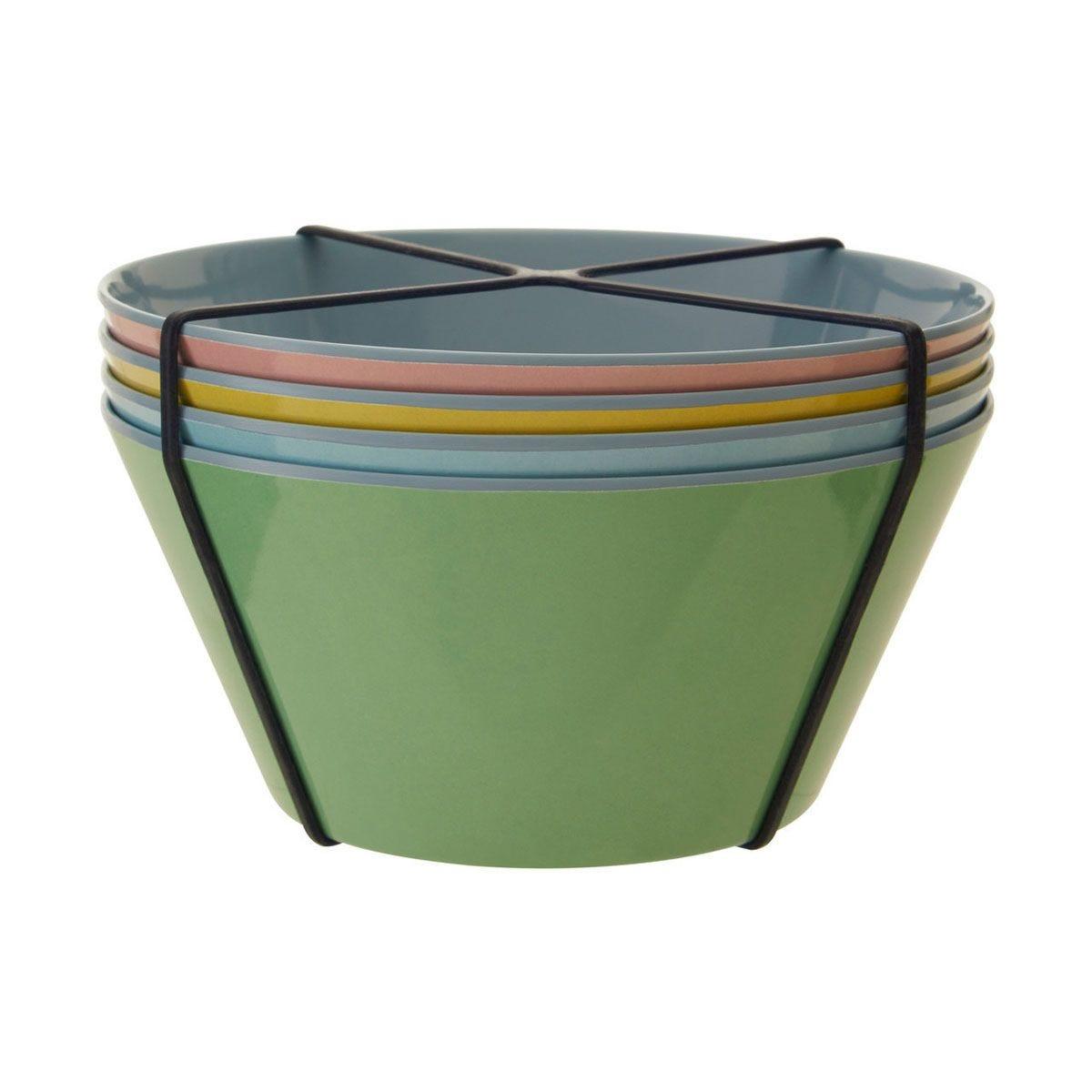 Maison By Premier Mimo Set of 4 Melamine Bowls - Multi