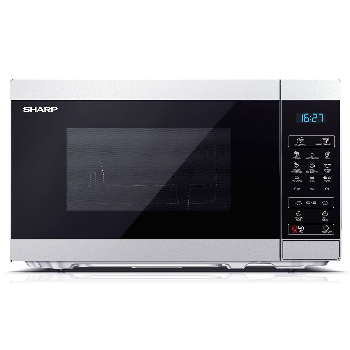 Sharp YC-MG02U-S 20L 800W Digital Touch Control Microwave with 1000W Grill - Silver
