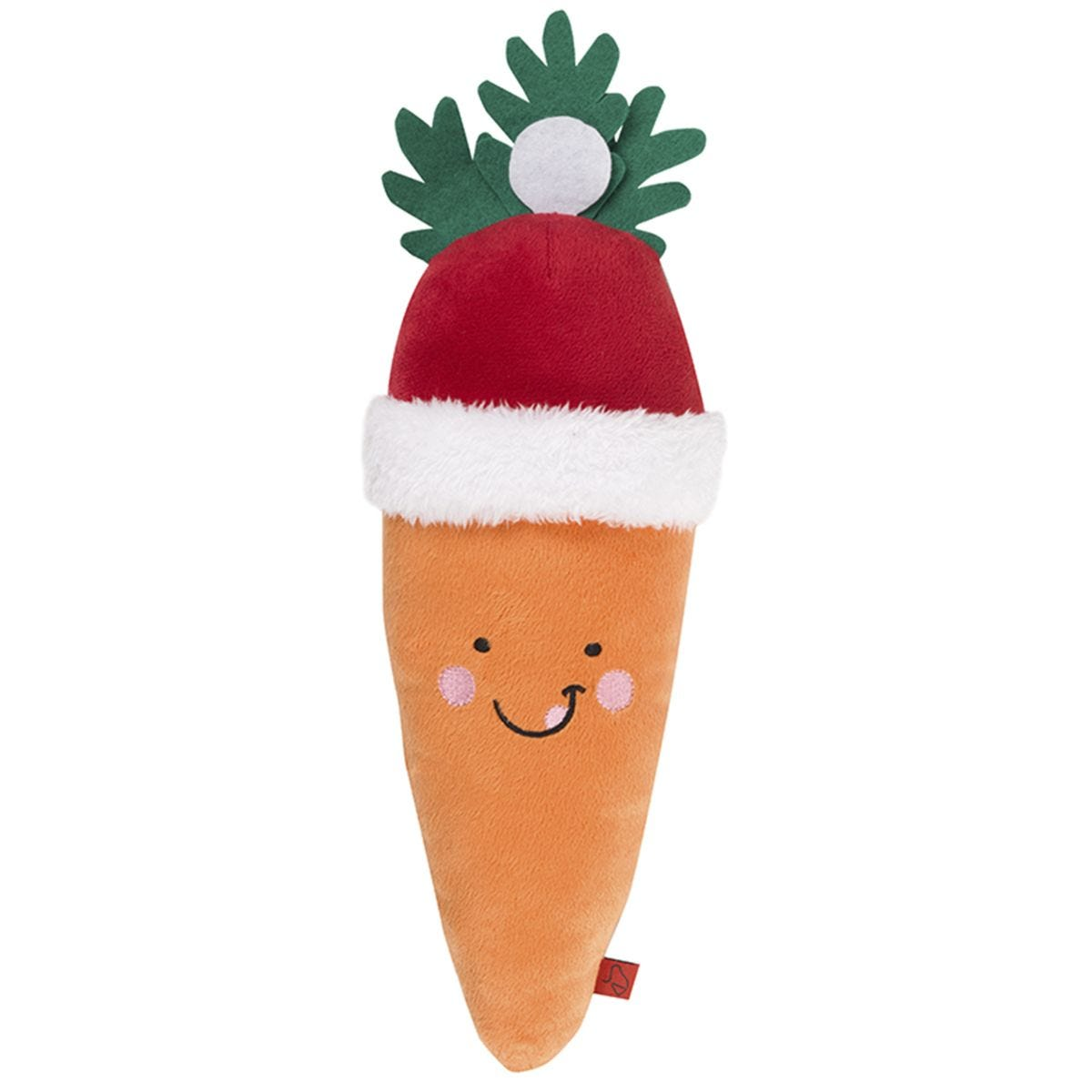 Zoon Santa Carrot Dog Toy