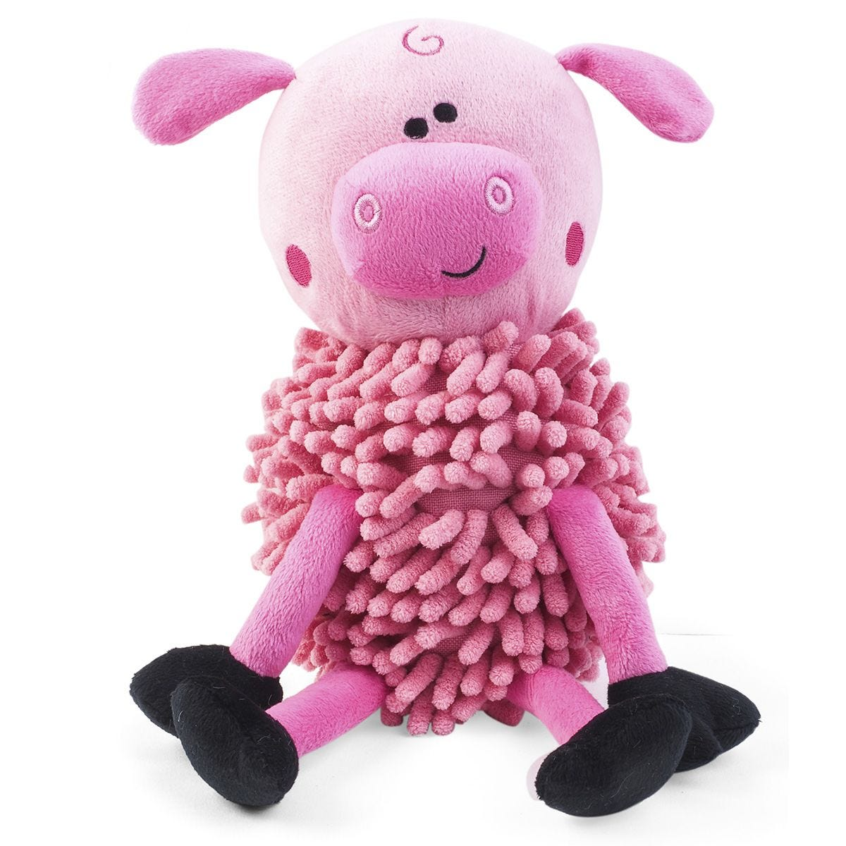 Zoon Noodly Pig Dog Toy