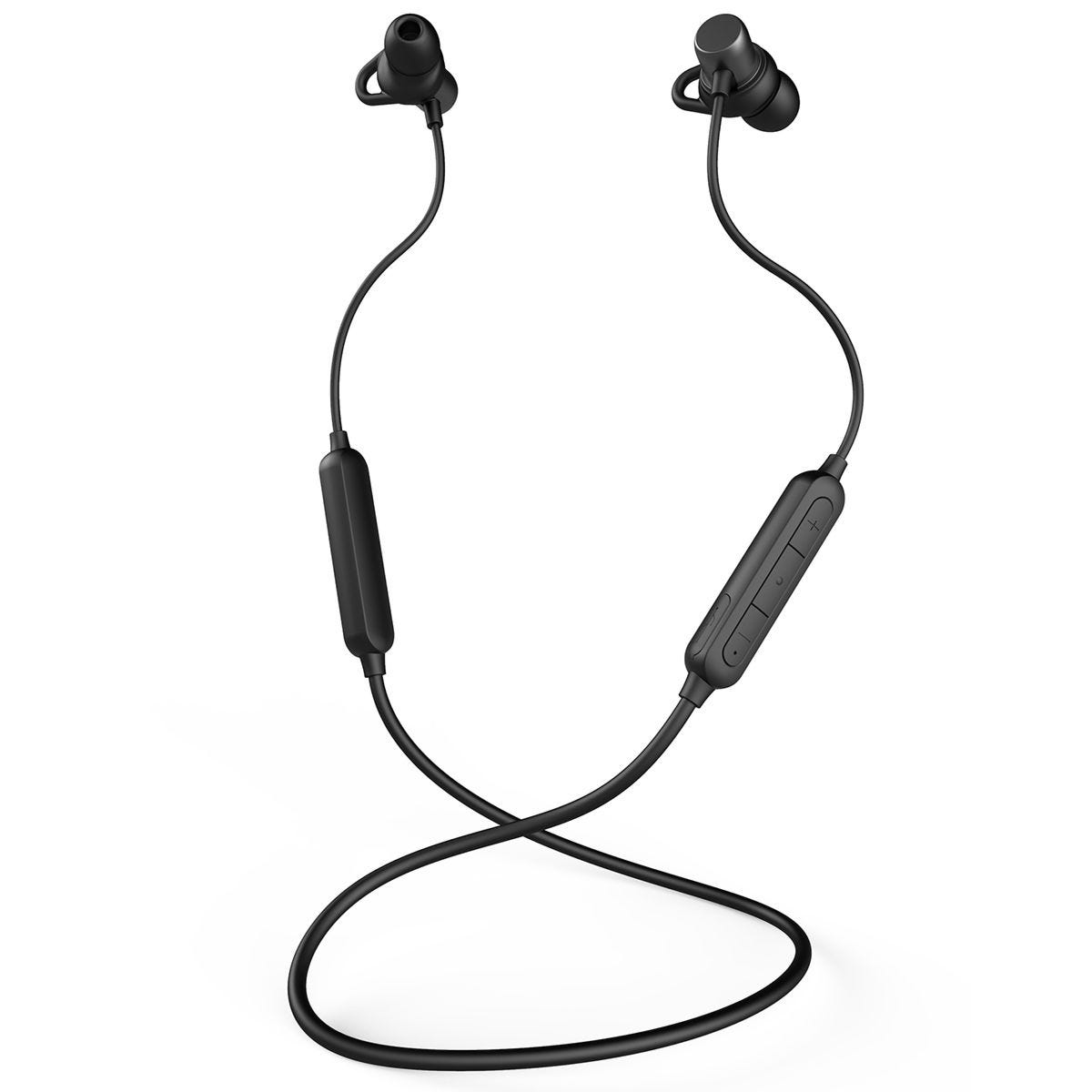 MIXX Play SX Wireless Earphones with Magnetic Back Caps - Black