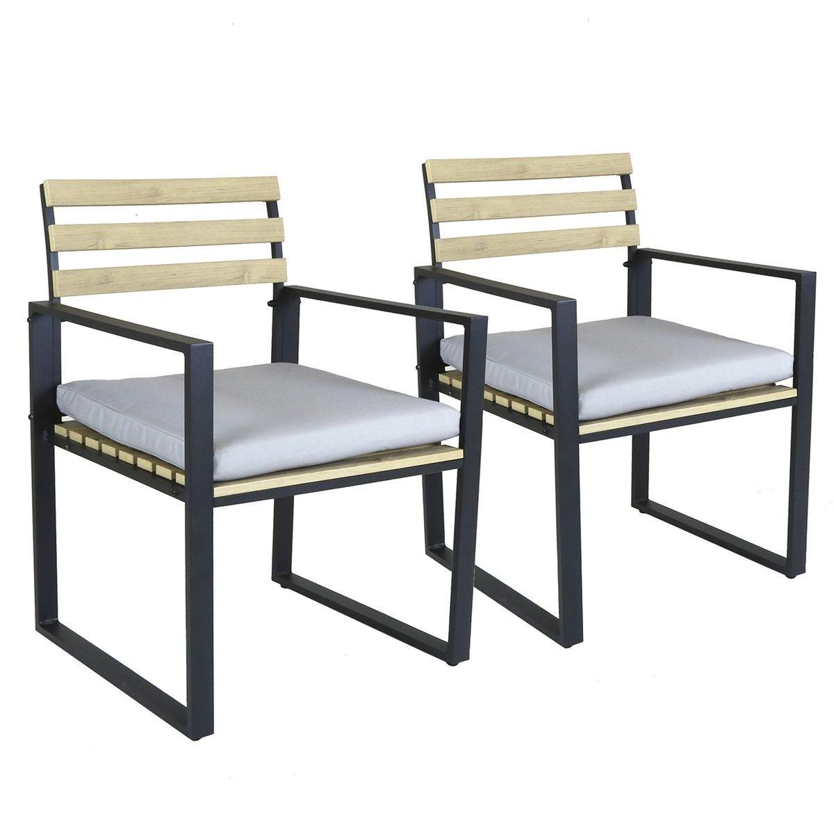 Charles Bentley Polywood and Aluminium Pair of Chairs
