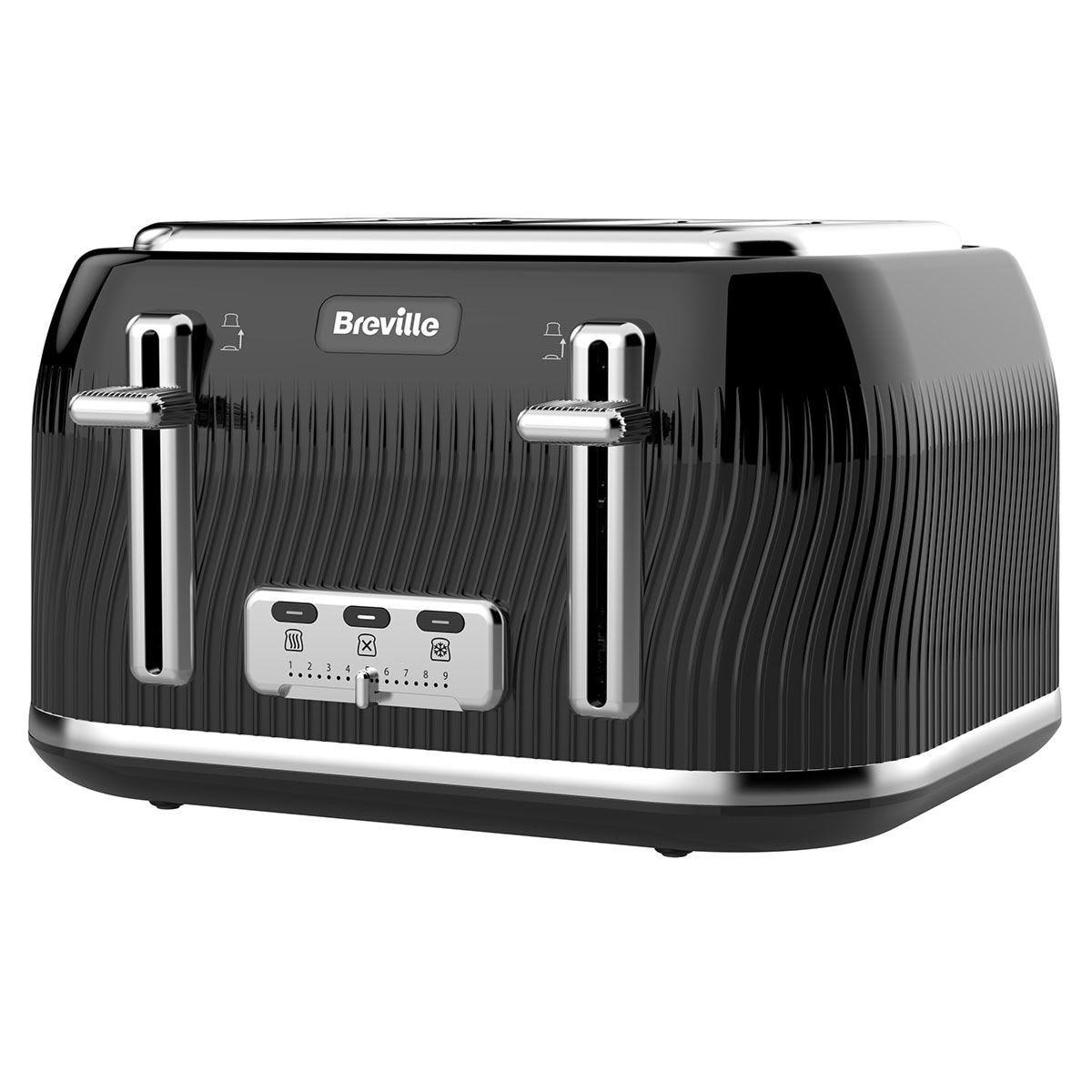 Breville VTT890 Flow Collection 4–Slice Toaster – Black