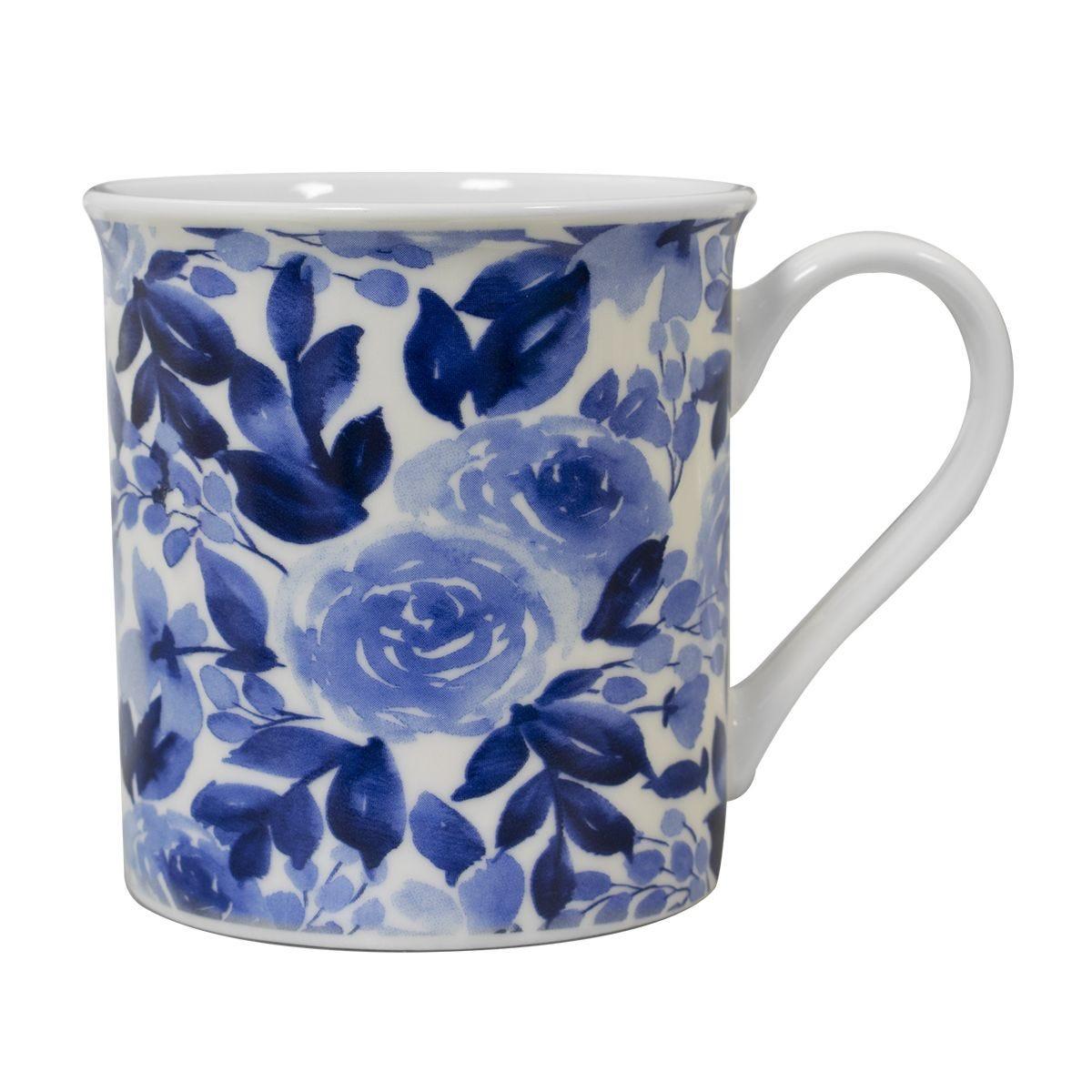 Floral Mug - Blue