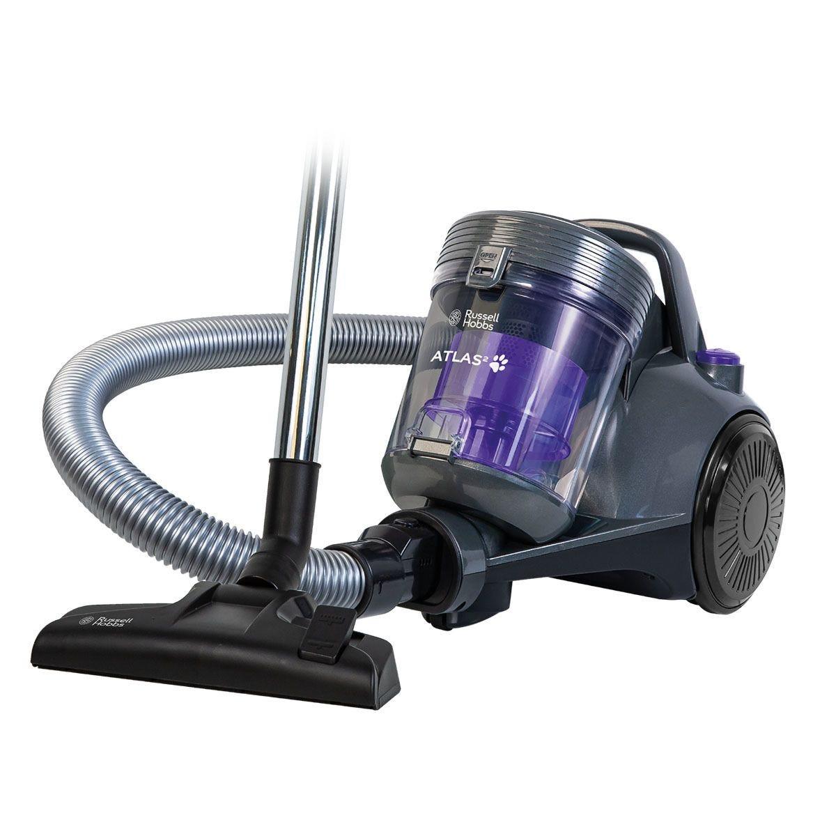 Russell Hobbs Atlas2 Pets Cyclonic Cylinder Vacuum Cleaner - Spectrum Grey & Purple