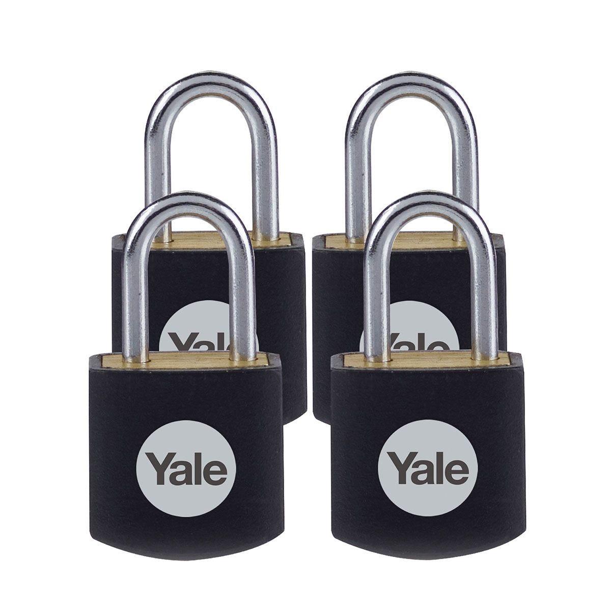 Yale Brass Padlock 15mm - Pack of 4