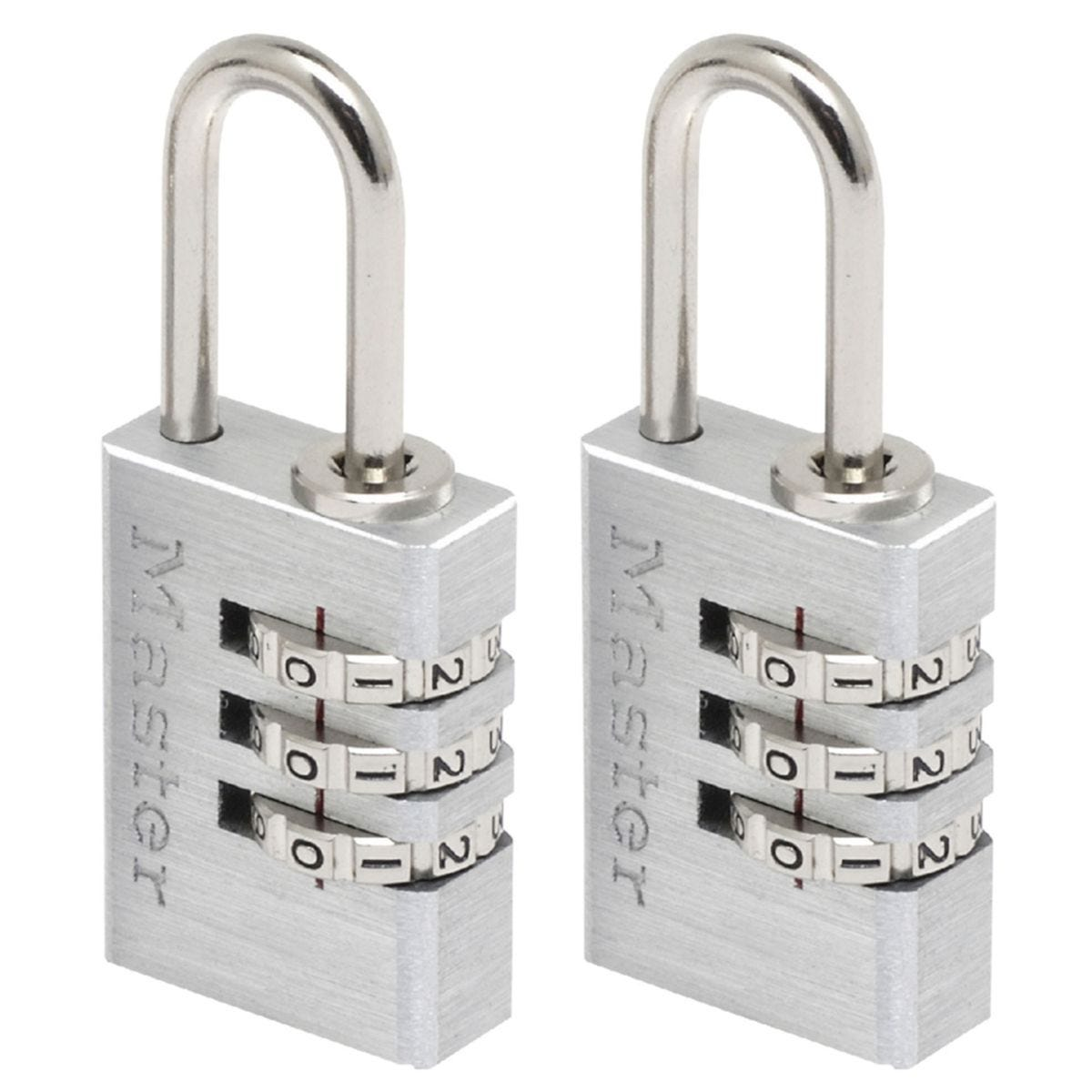 Master Lock 20mm Solid Aluminium Body Set-Your-Own Combination - Pack of 2