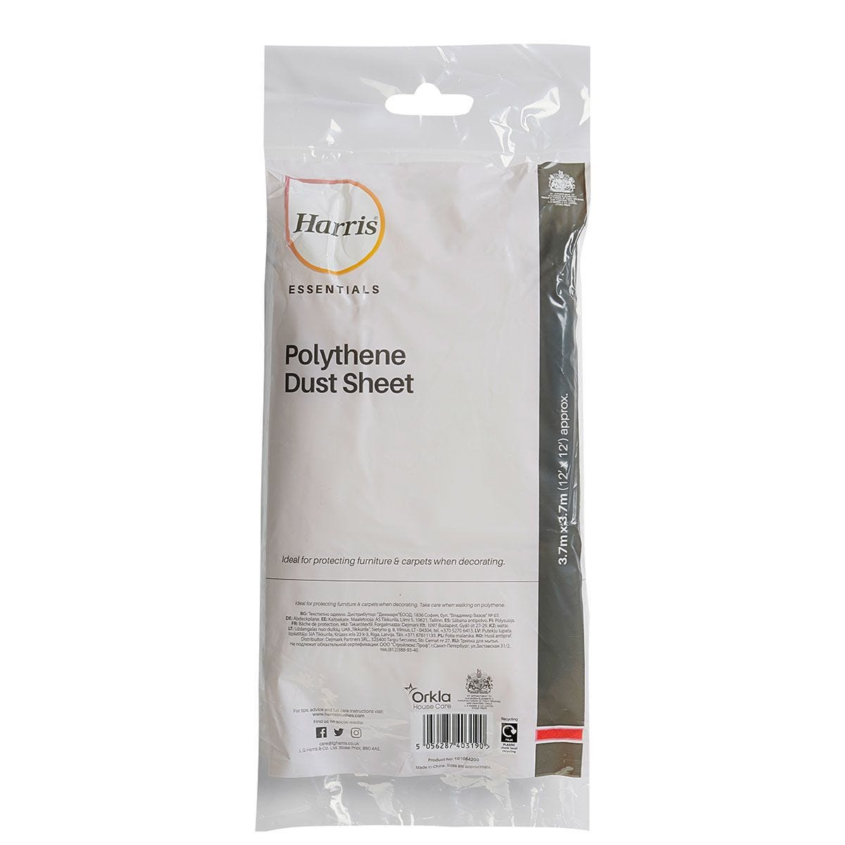 Harris Essentials Dust Sheet - 3.7m x 3.7m