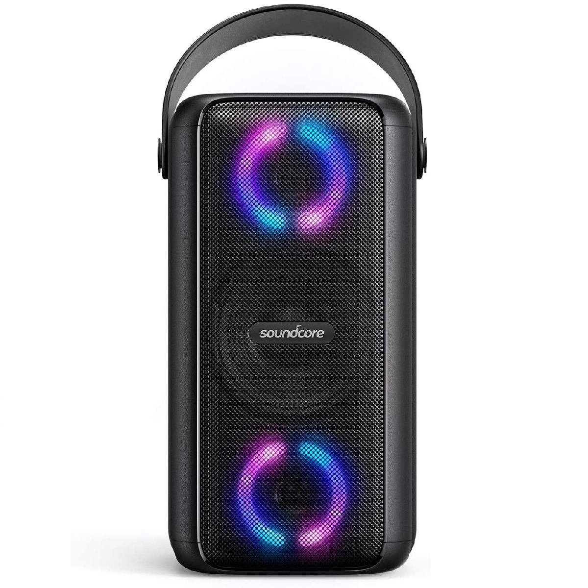 Soundcore Mega Bluetooth Party Speaker with LED Lights & IPX7 Waterproof - Black