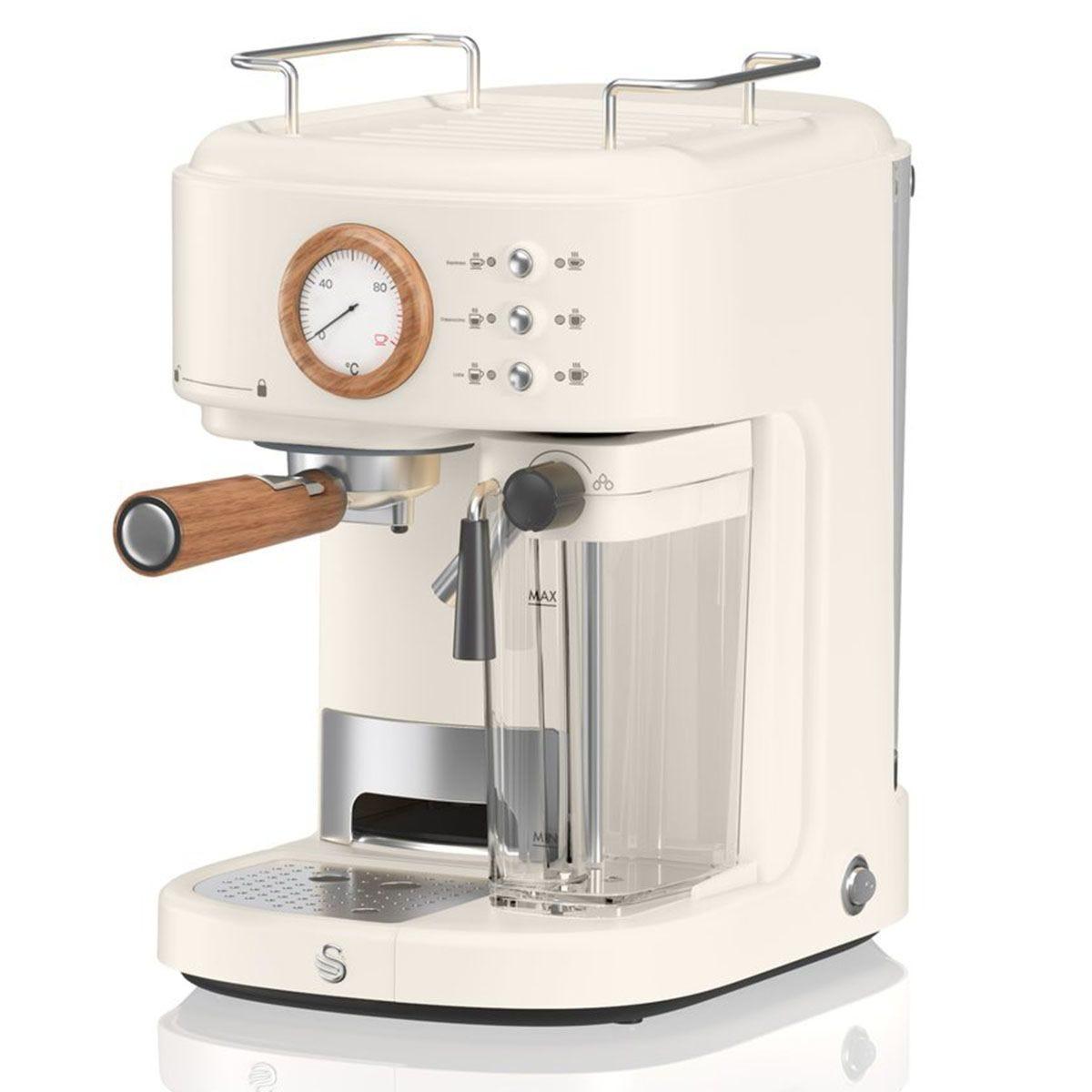 Swan SK22150WHTN Nordic Semi Auto 1.7L Coffee Machine - Nordic Cotton White