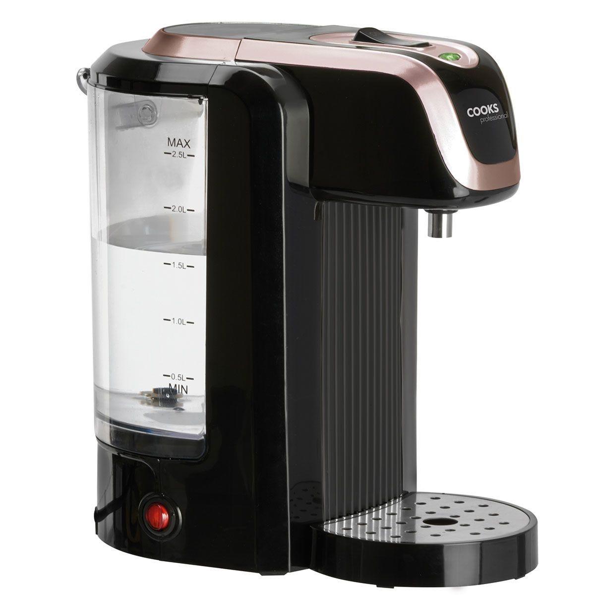 Cooks Professional G4239 2.5L Hot Water Dispenser – Black & Rose Gold