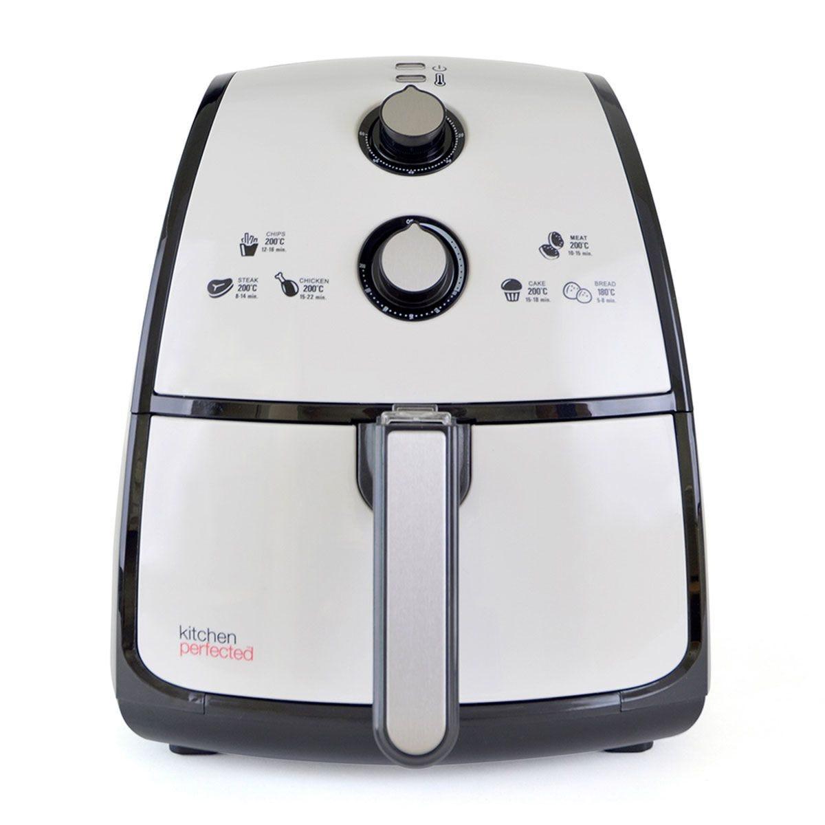 Lloytron E6702WI KitchenPerfected 1500W 4L Air Fryer - Ivory White