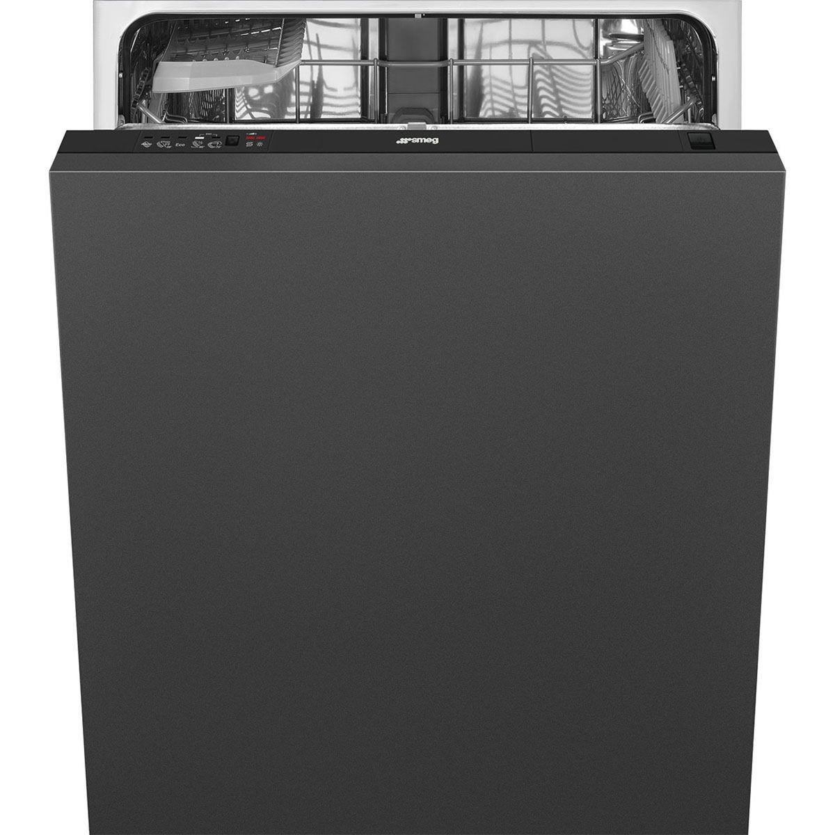 SMEG DI612E1 60cm 12-Place Setting A+ Rated Fully Integrated StandardDishwasher - BlackControl Panel with Fixed Door Fixing Kit