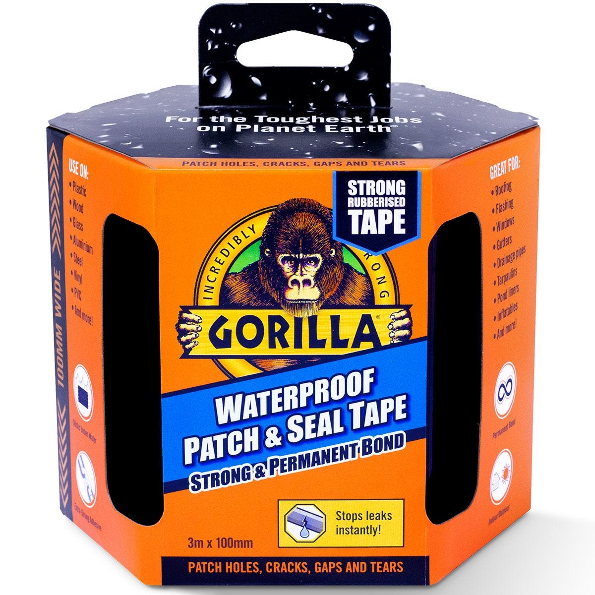 Gorilla Waterproof Patch & Seal Tape - 3m x 100mm