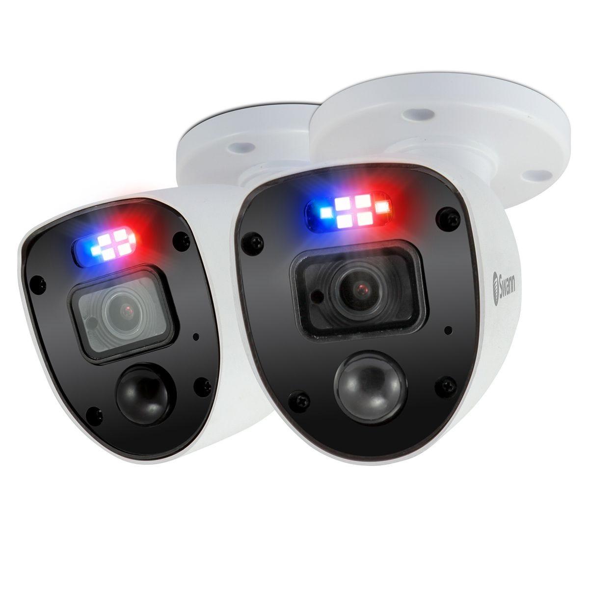 Swann Smart Enforcer LED Analogue CCTV Security Camera - 2 Pack