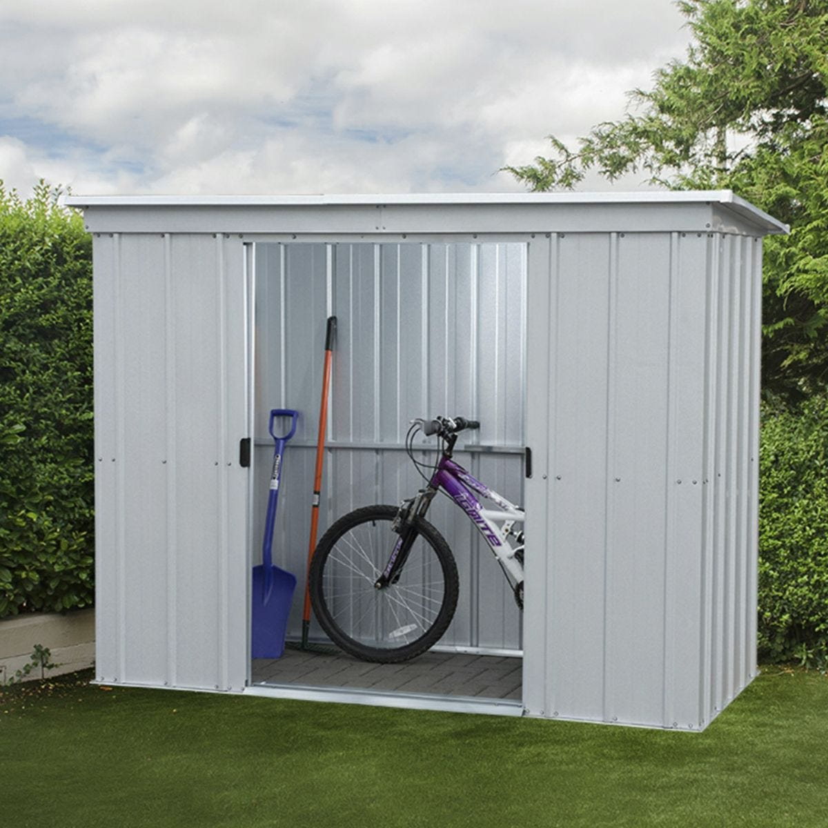 Yardmaster Store All No Floor Metal Pent Shed 6 x 4ft