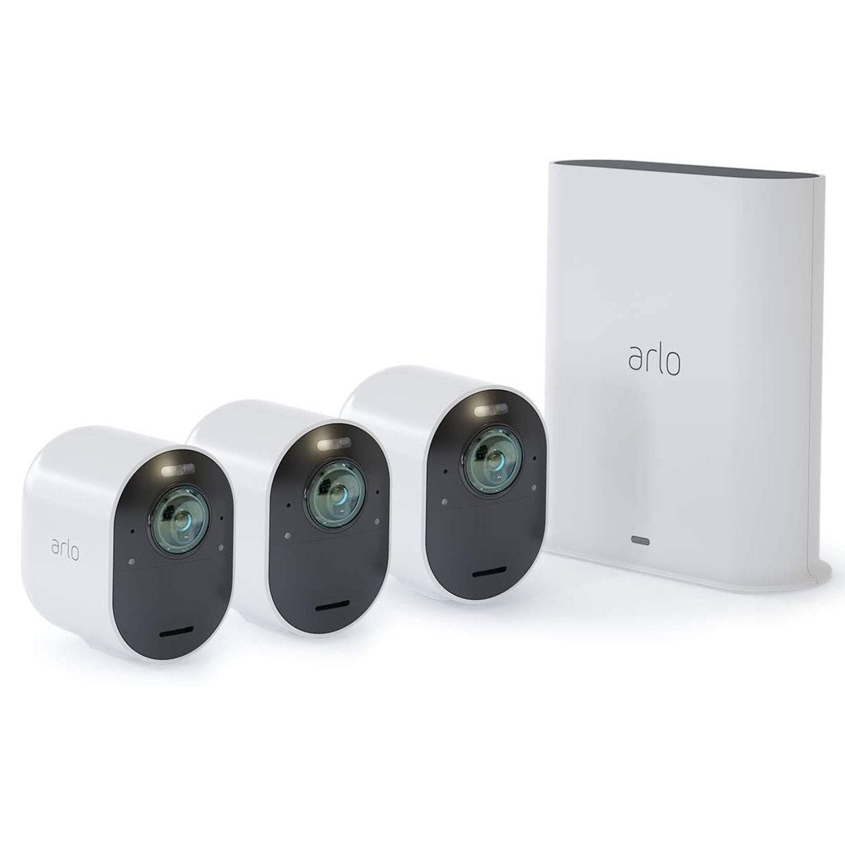 Arlo Ultra 4K UHD Wire-Free Security 3 Camera System - White