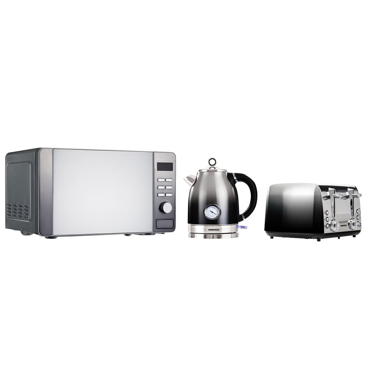 Daewoo SDA2155DS Callisto Retro Three-Piece Kitchen Set - Black Fade