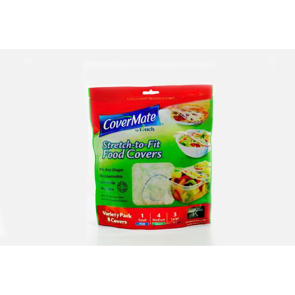 CoverMate Stretch-To-Fit Food Covers - Pack of 8