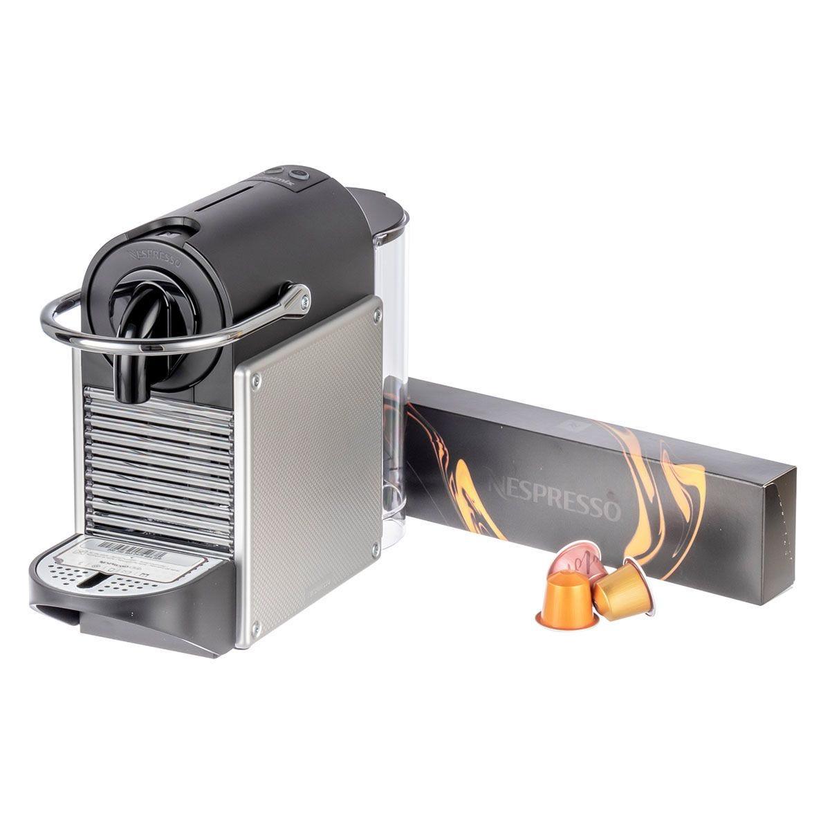 Magimix Nespresso Pixie 11322 Clips Pod Coffee Machine - Aluminium