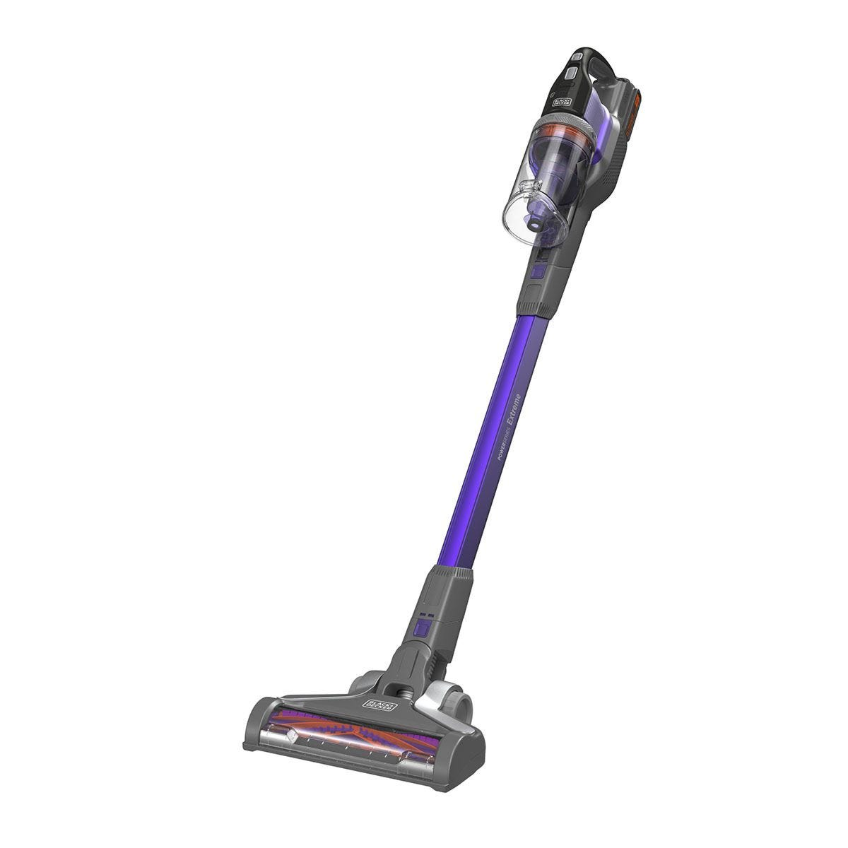 Black + Decker BHFEV182CP–GB 18V Floor Extension Pet Stick Vacuum Cleaner – Purple