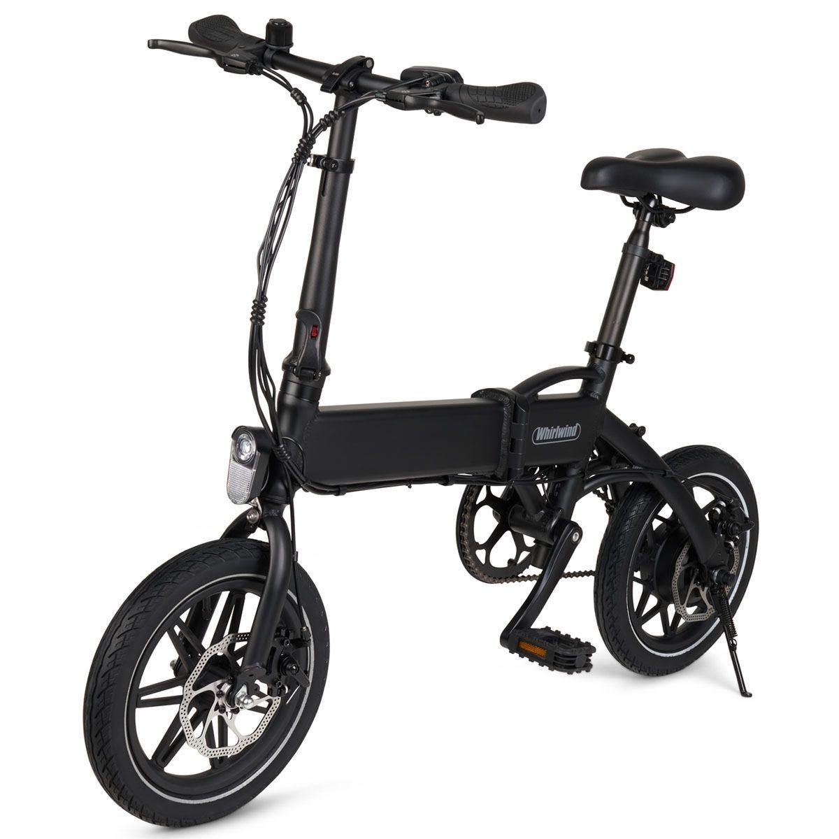 Whirlwind C4 Foldable Electric Bike  - Black