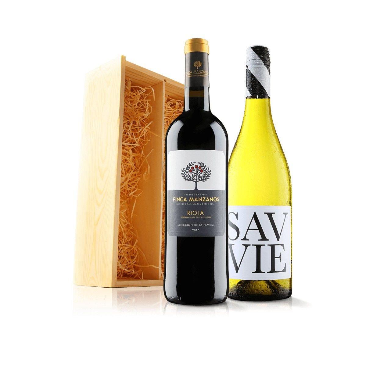 Virgin Wines Luxury Mixed Duo in Wooden Gift Box