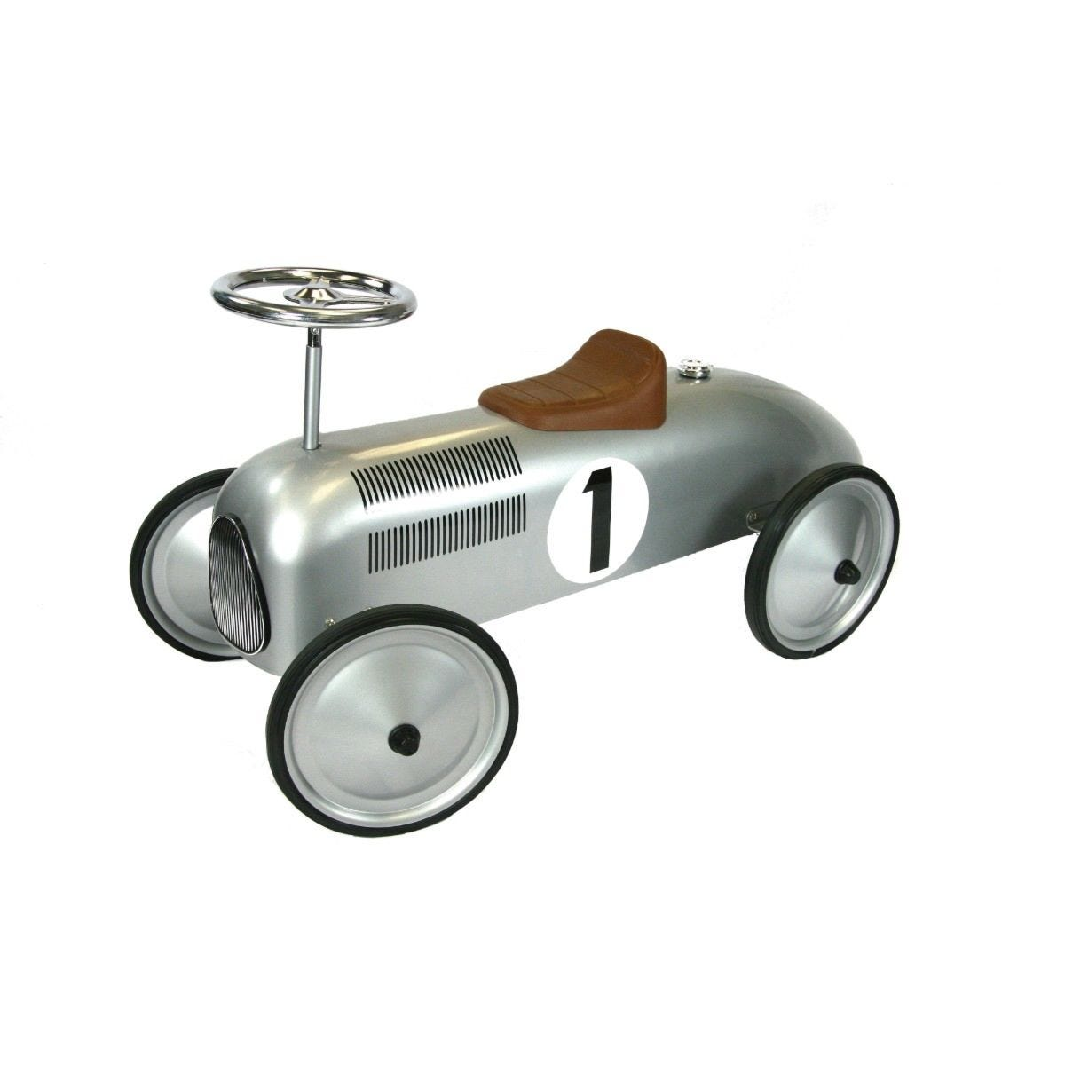 Classic Racer Pedal Car - Silver