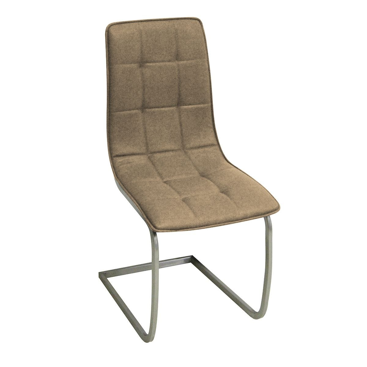 Set Of 2 Olivia Faux Leather Chairs - Chrome/Brown