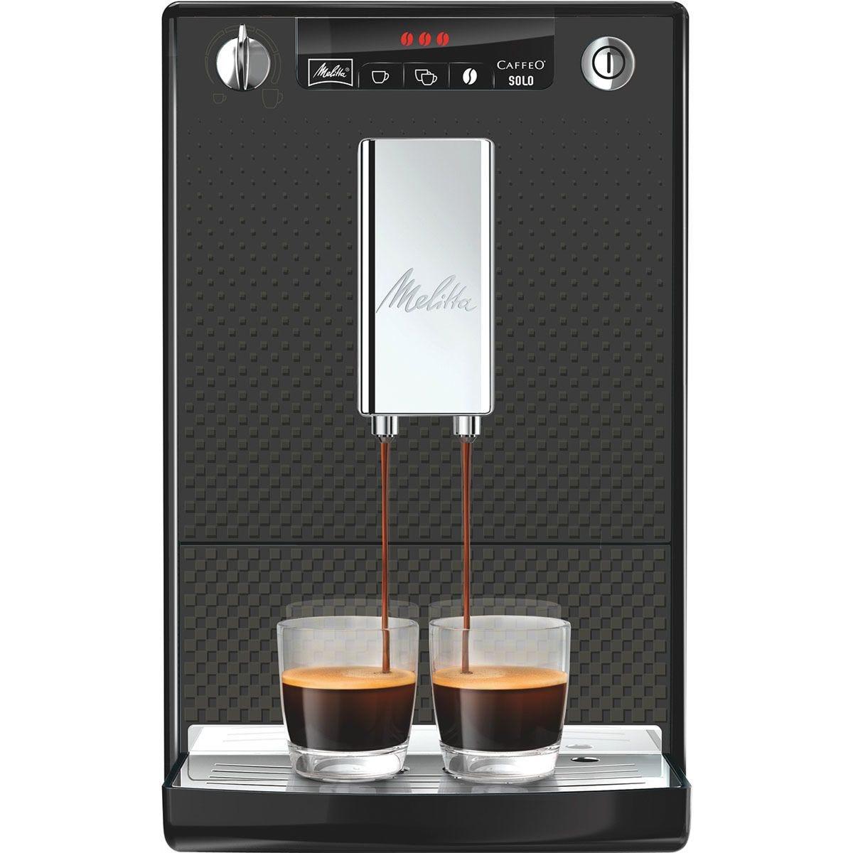 Melitta 6708696 Caffeo Solo Full Automatic Bean to Cup Coffee Machine – Black