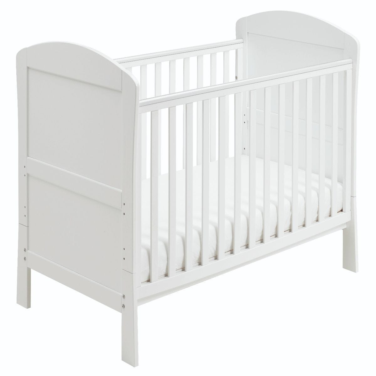 Babymore Aston Drop Side Cot Bed  White